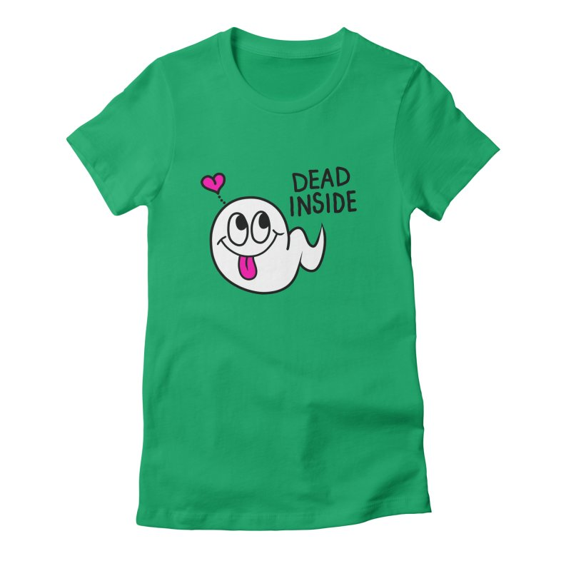 DEAD INSIDE Women's Fitted T-Shirt by Jim Tozzi