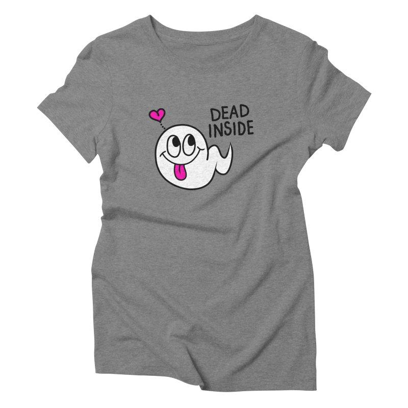 DEAD INSIDE Women's Triblend T-Shirt by Jim Tozzi
