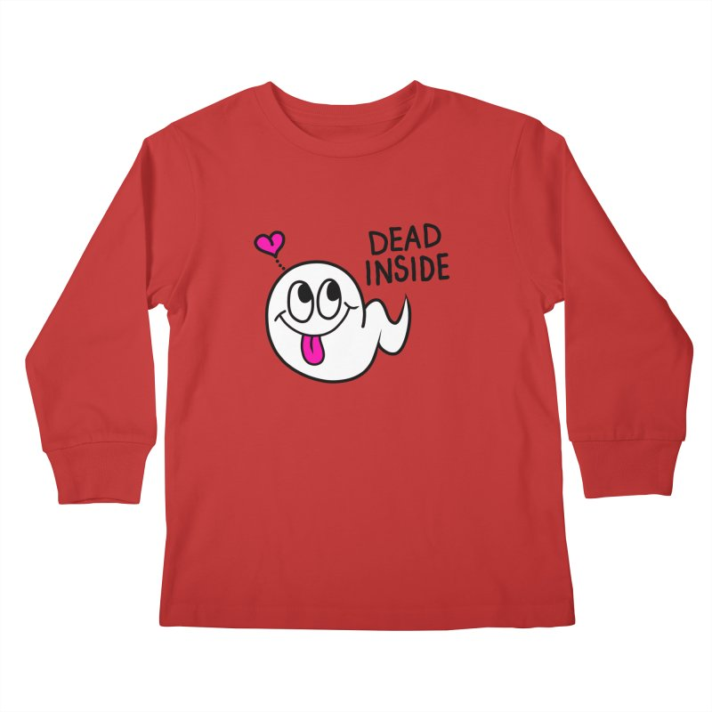 DEAD INSIDE Kids Longsleeve T-Shirt by Jim Tozzi