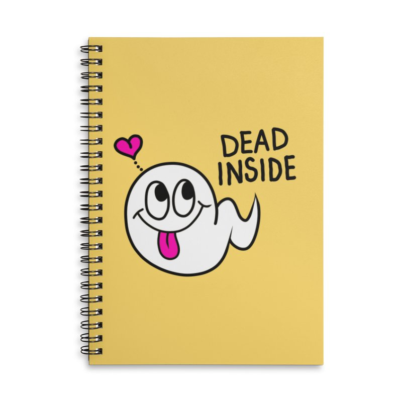 DEAD INSIDE Accessories Lined Spiral Notebook by Jim Tozzi