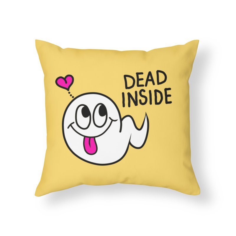 DEAD INSIDE Home Throw Pillow by Jim Tozzi