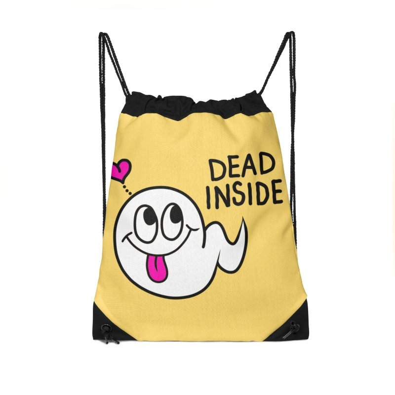 DEAD INSIDE Accessories Drawstring Bag Bag by Jim Tozzi