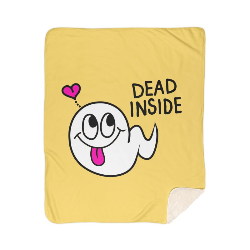 DEAD INSIDE Home Sherpa Blanket Blanket by Jim Tozzi