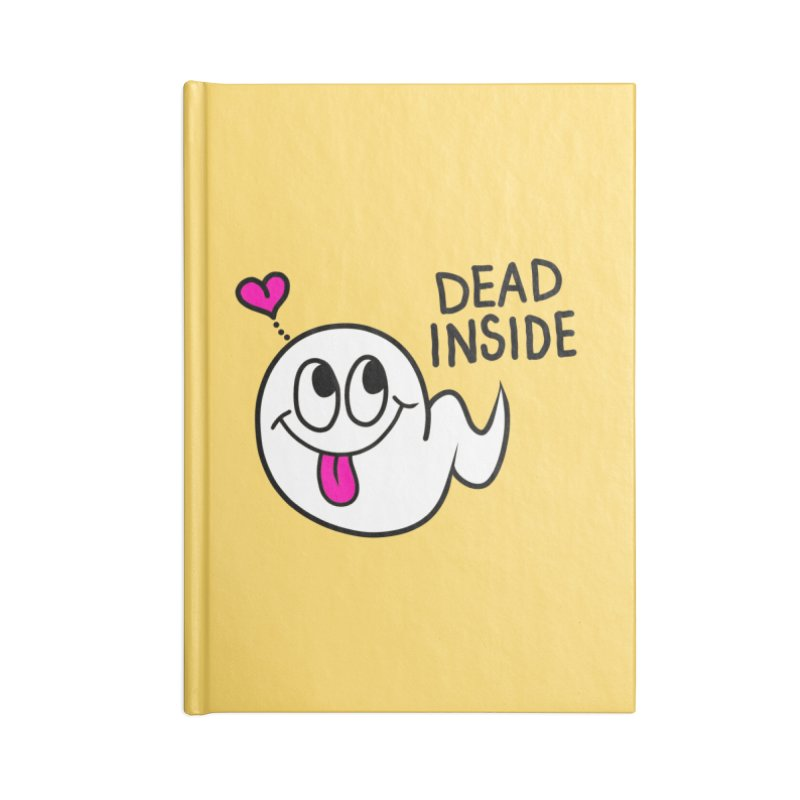 DEAD INSIDE Accessories Lined Journal Notebook by Jim Tozzi