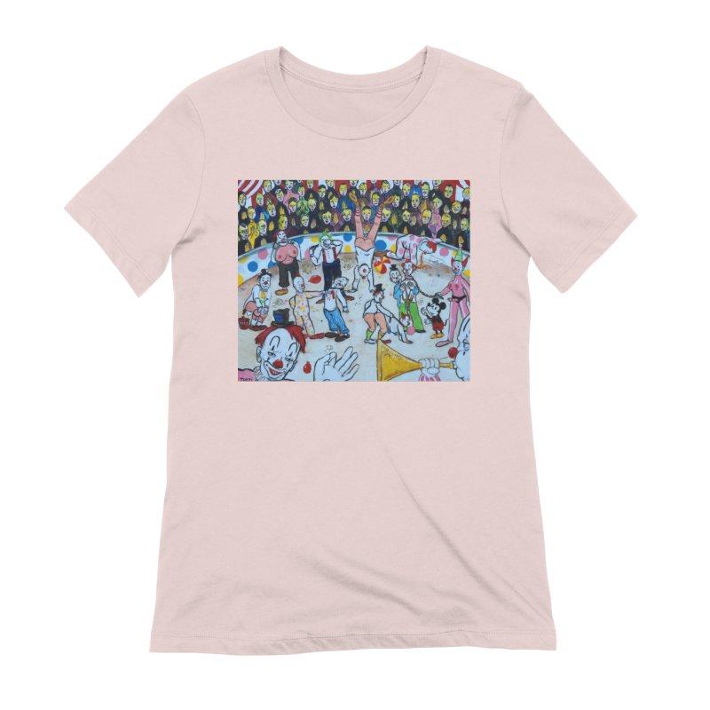 clowns Women's Extra Soft T-Shirt by Jim Tozzi