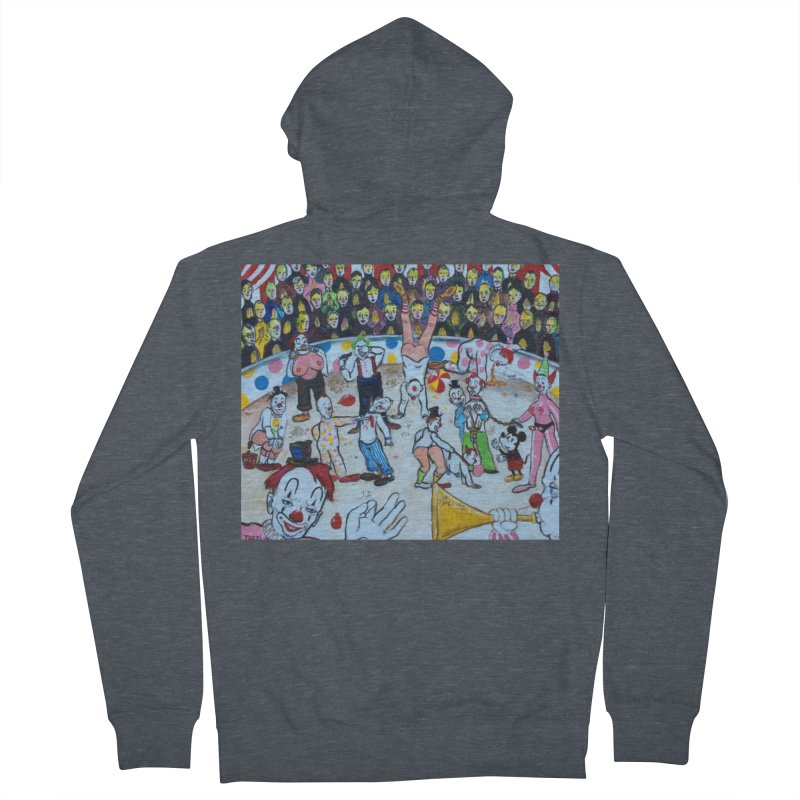 clowns Men's French Terry Zip-Up Hoody by Jim Tozzi