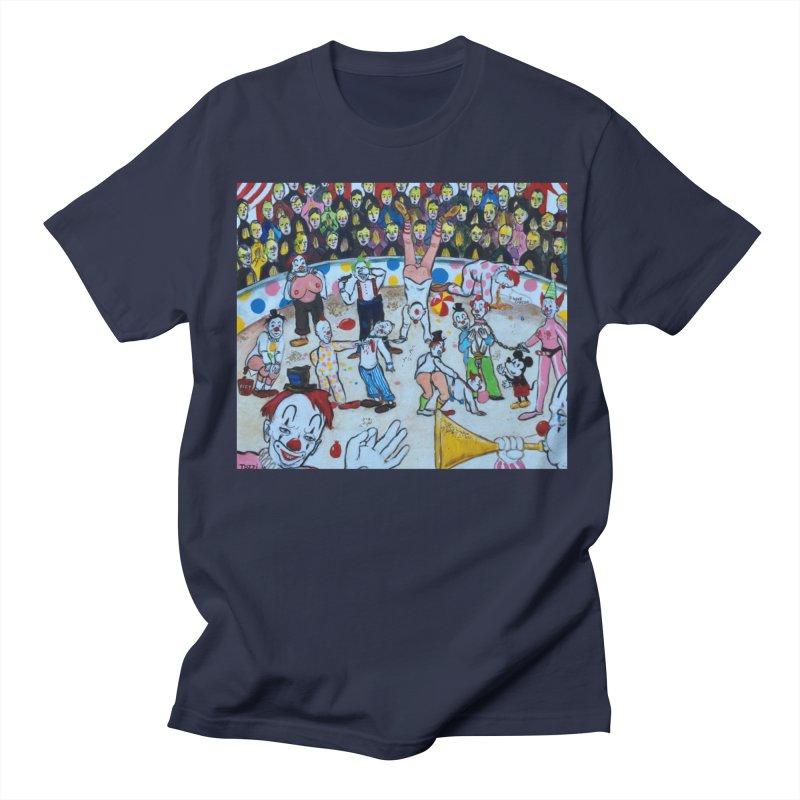 clowns Men's T-Shirt by Jim Tozzi