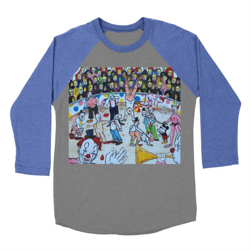 clowns Men's Baseball Triblend T-Shirt by Jim Tozzi