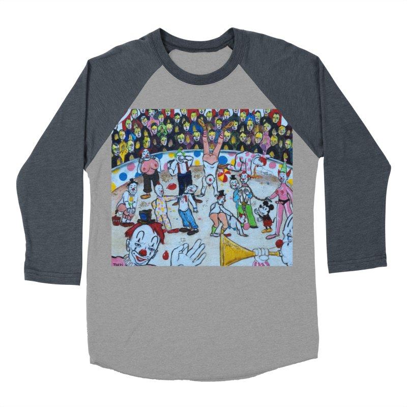 clowns Men's Baseball Triblend Longsleeve T-Shirt by Jim Tozzi