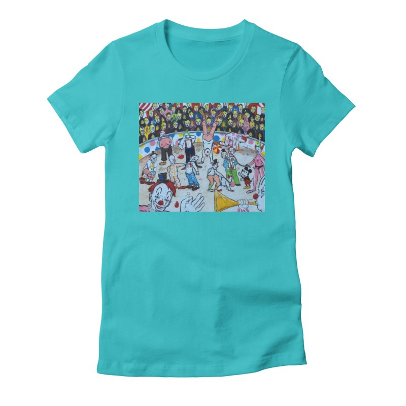 clowns Women's Fitted T-Shirt by Jim Tozzi
