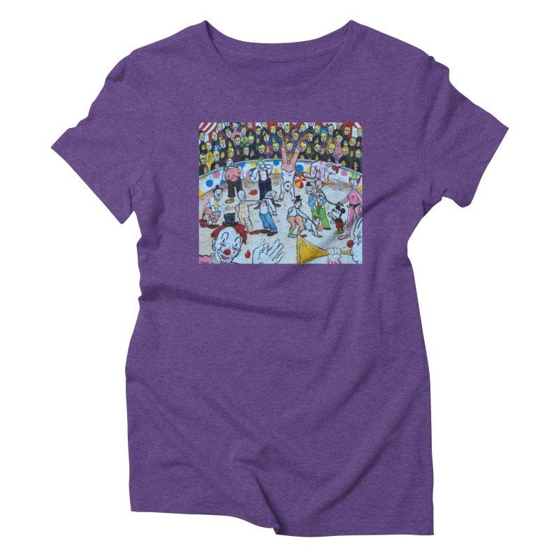 clowns Women's Triblend T-shirt by Jim Tozzi