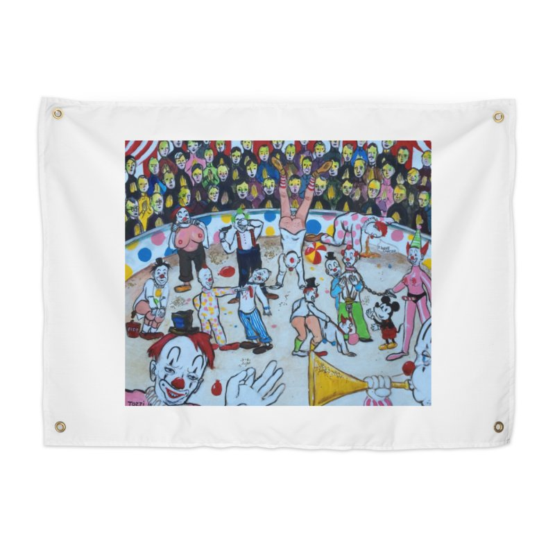 clowns Home Tapestry by Jim Tozzi