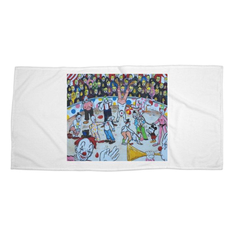 clowns Accessories Beach Towel by Jim Tozzi