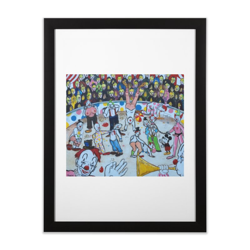 clowns Home Framed Fine Art Print by Jim Tozzi