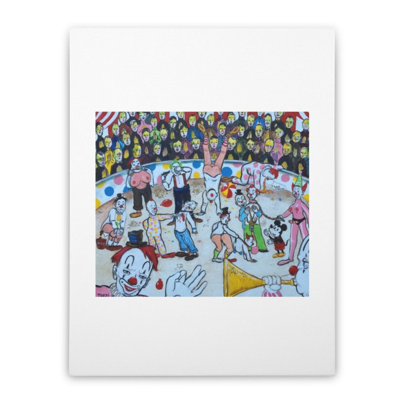 clowns Home Stretched Canvas by Jim Tozzi