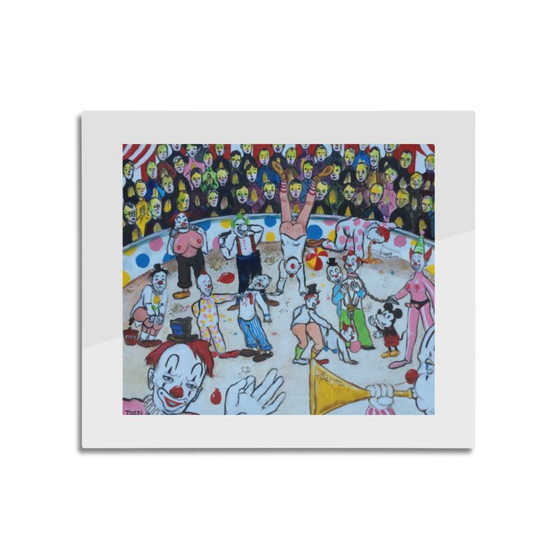 clowns Home Mounted Aluminum Print by Jim Tozzi