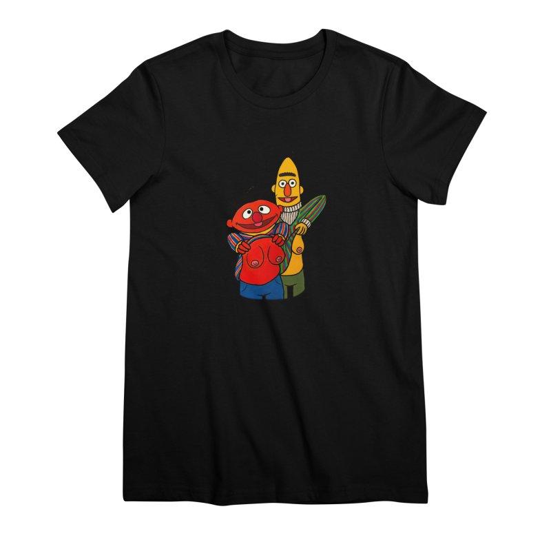 E and B flash Women's Premium T-Shirt by Jim Tozzi