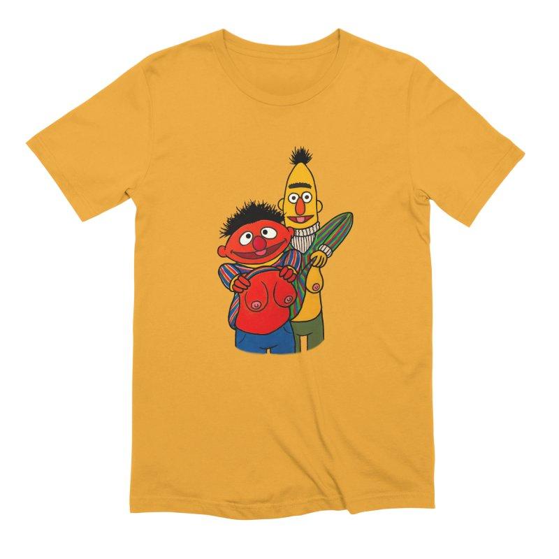 E and B flash Men's Extra Soft T-Shirt by Jim Tozzi