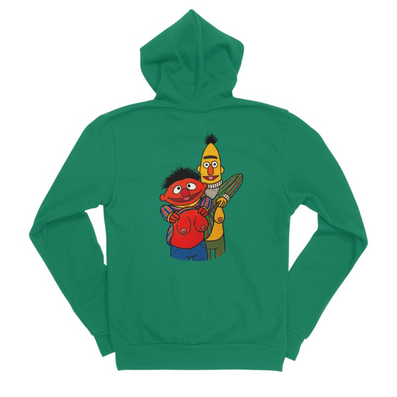 E and B flash Women's Sponge Fleece Zip-Up Hoody by Jim Tozzi