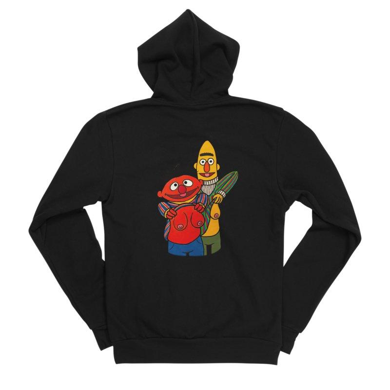 E and B flash Men's Sponge Fleece Zip-Up Hoody by Jim Tozzi
