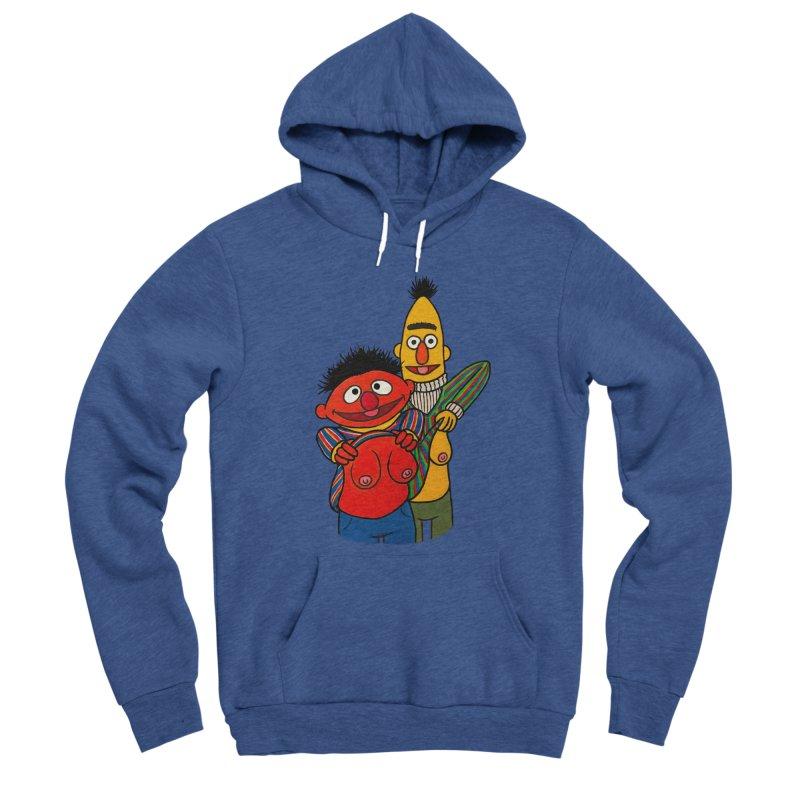 E and B flash Men's Sponge Fleece Pullover Hoody by Jim Tozzi