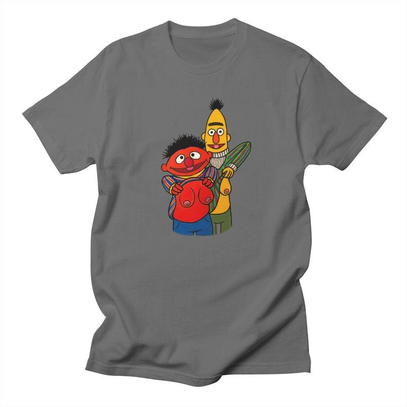 E and B flash Men's Regular T-Shirt by Jim Tozzi