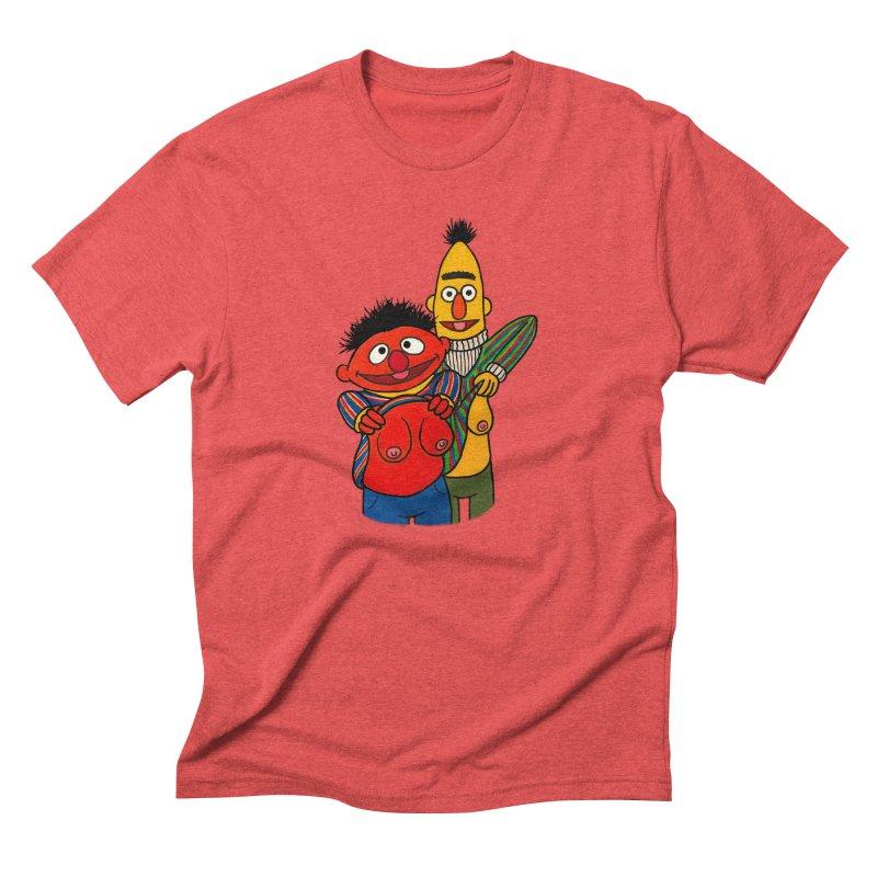 E and B flash Men's Triblend T-Shirt by Jim Tozzi