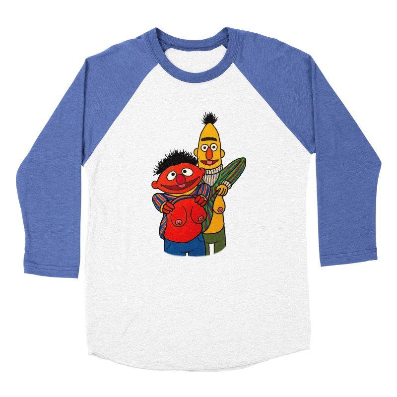 E and B flash Women's Baseball Triblend Longsleeve T-Shirt by Jim Tozzi