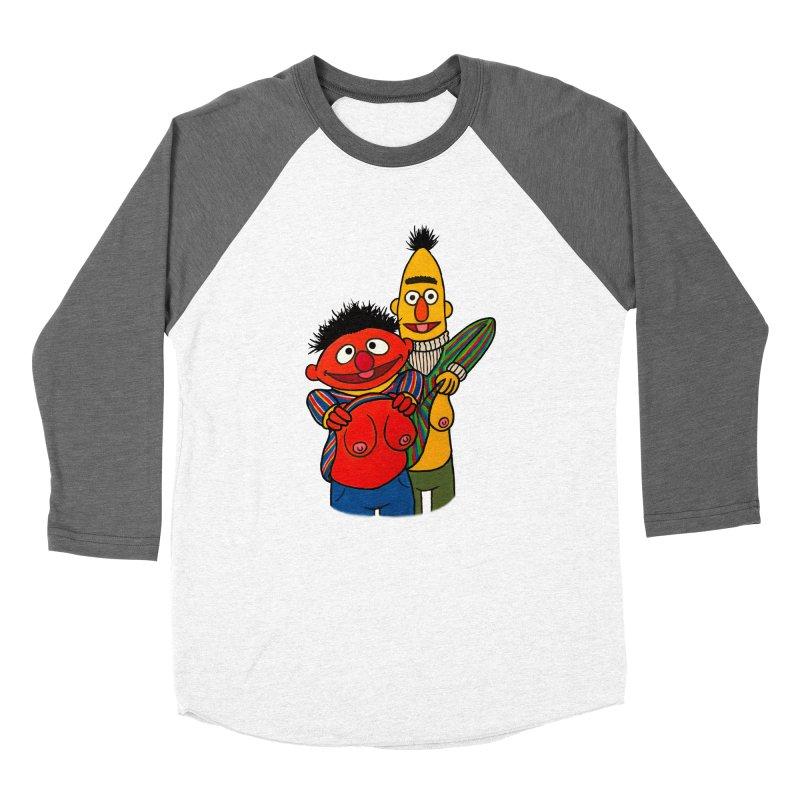 E and B flash Men's Baseball Triblend Longsleeve T-Shirt by Jim Tozzi