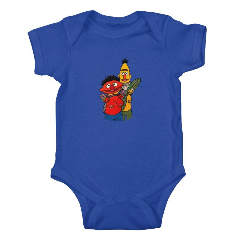 E and B flash Kids Baby Bodysuit by Jim Tozzi