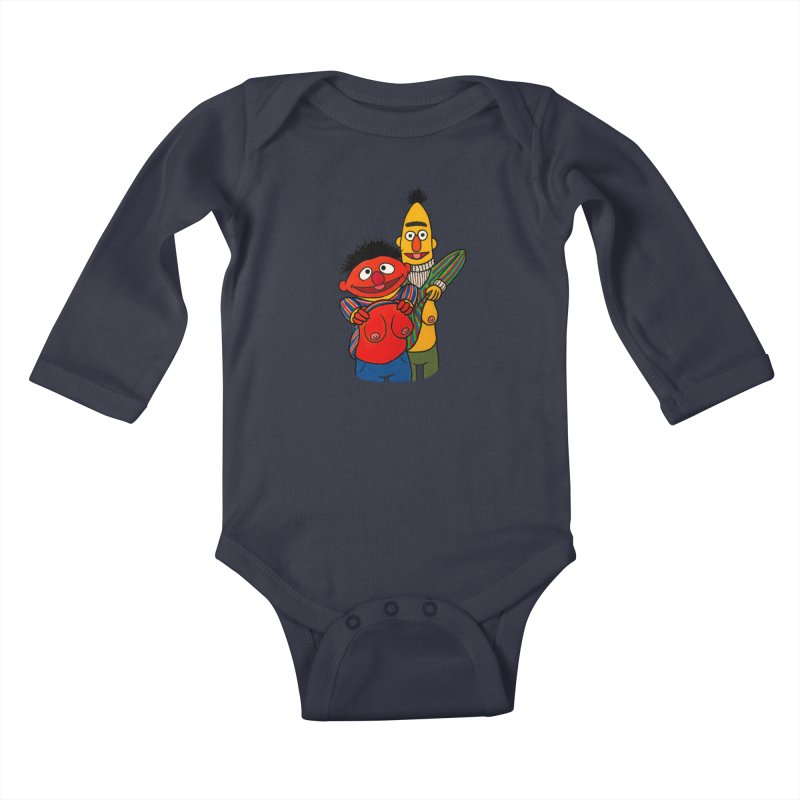E and B flash Kids Baby Longsleeve Bodysuit by Jim Tozzi