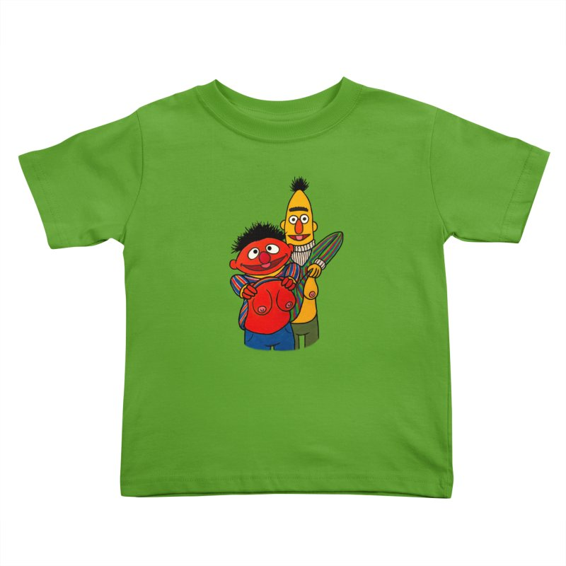 E and B flash Kids Toddler T-Shirt by Jim Tozzi