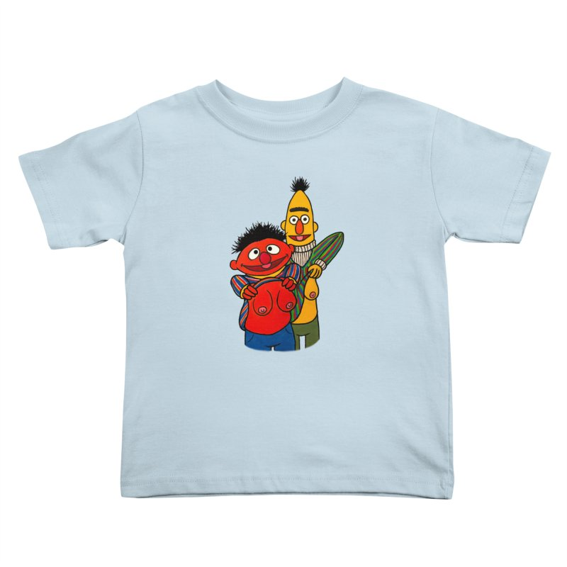 E and B flash Kids Toddler T-Shirt by Jim Tozzi