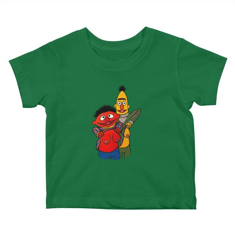 E and B flash Kids Baby T-Shirt by Jim Tozzi