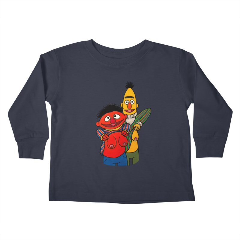 E and B flash Kids Toddler Longsleeve T-Shirt by Jim Tozzi