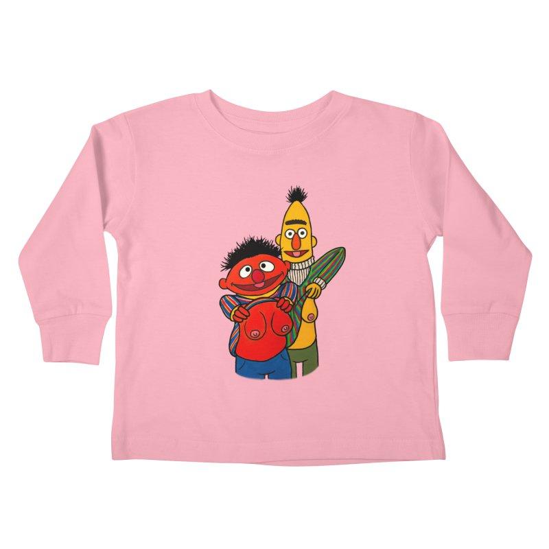 E and B flash Kids Toddler Longsleeve T-Shirt by Jim Tozzi