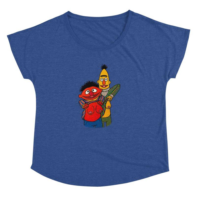 E and B flash Women's Dolman Scoop Neck by Jim Tozzi