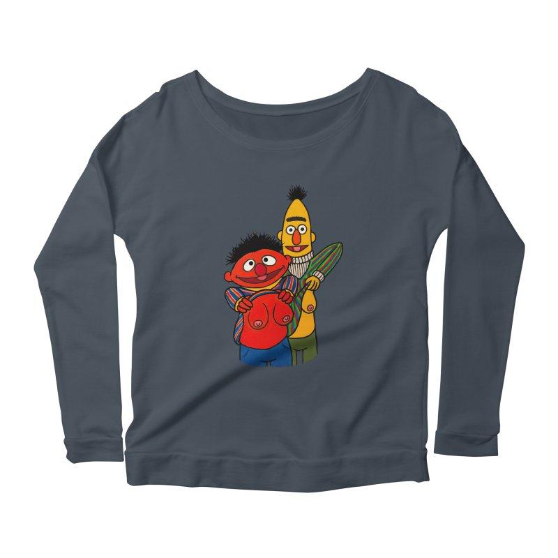 E and B flash Women's Scoop Neck Longsleeve T-Shirt by Jim Tozzi