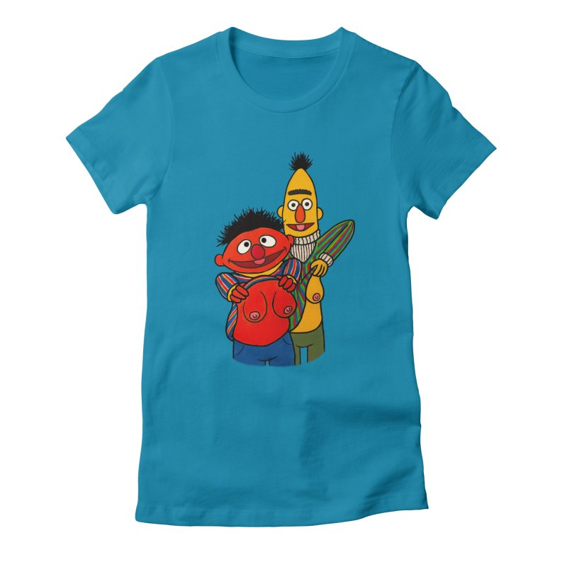 E and B flash Women's Fitted T-Shirt by Jim Tozzi