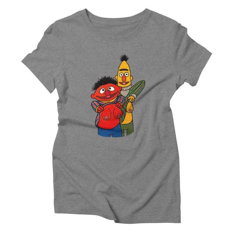 E and B flash Women's Triblend T-Shirt by Jim Tozzi