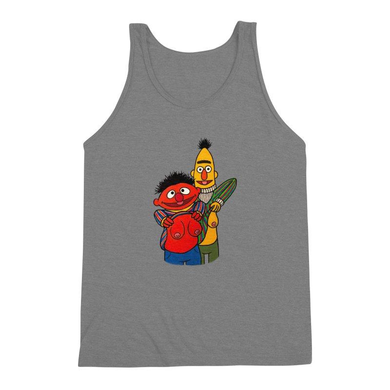 E and B flash Men's Triblend Tank by Jim Tozzi