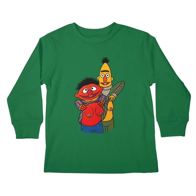 E and B flash Kids Longsleeve T-Shirt by Jim Tozzi