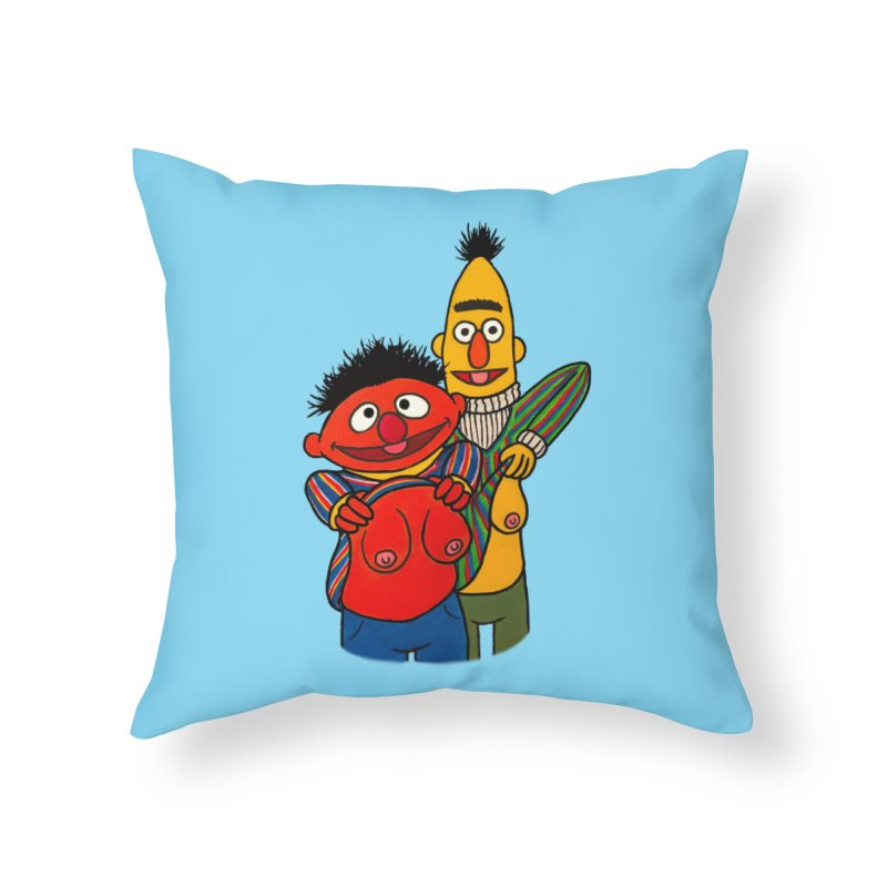 E and B flash Home Throw Pillow by Jim Tozzi