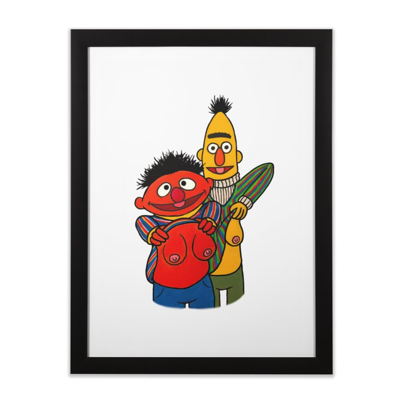 E and B flash Home Framed Fine Art Print by Jim Tozzi