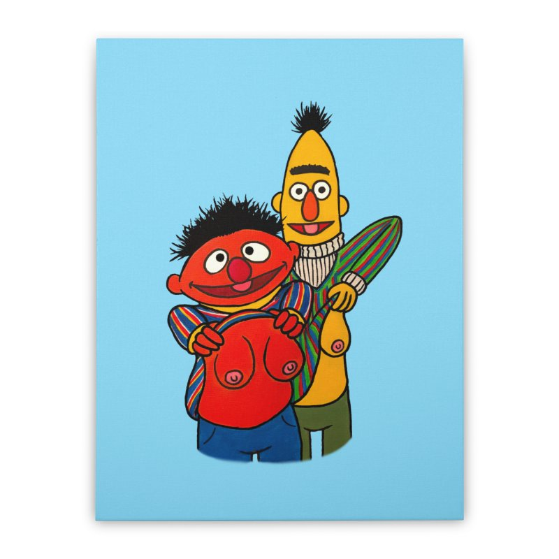 E and B flash Home Stretched Canvas by Jim Tozzi