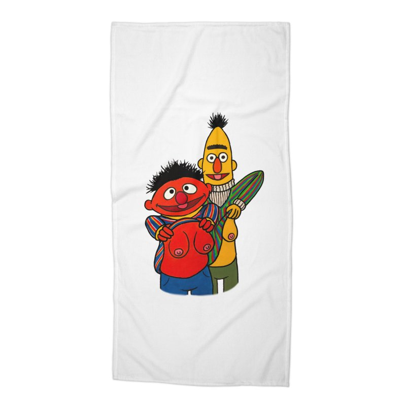 E and B flash Accessories Beach Towel by Jim Tozzi