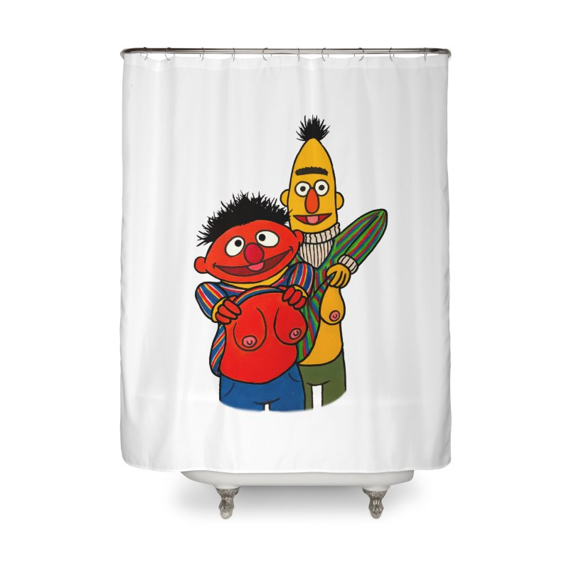 E and B flash Home Shower Curtain by Jim Tozzi