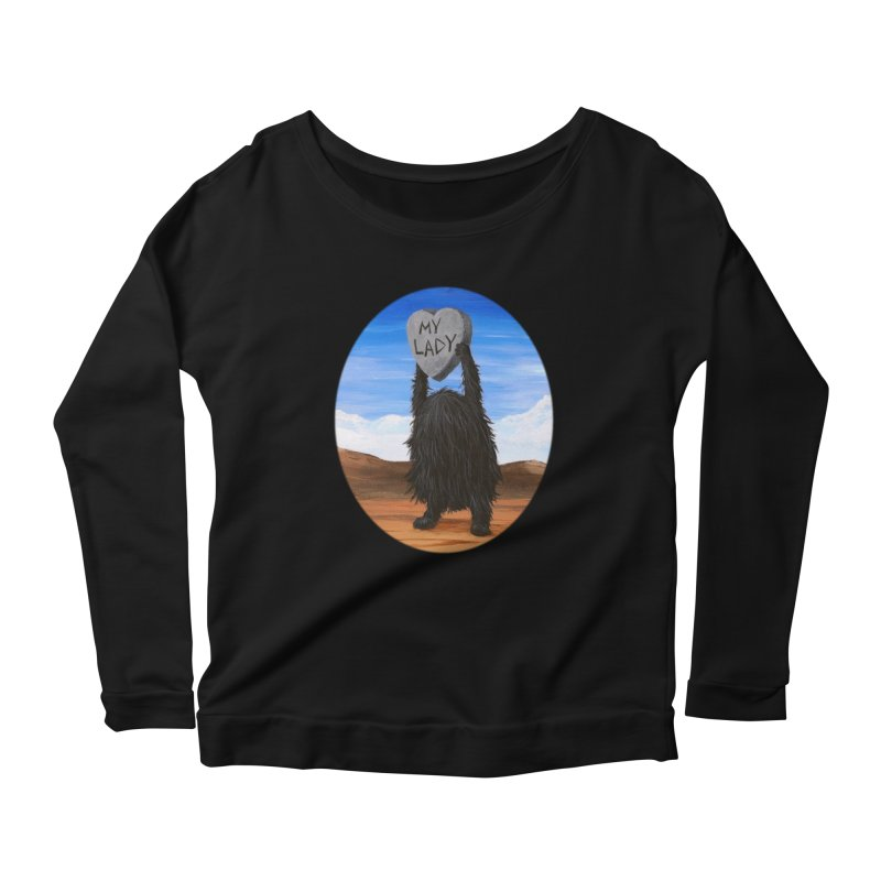 MY LADY Women's Scoop Neck Longsleeve T-Shirt by Jim Tozzi