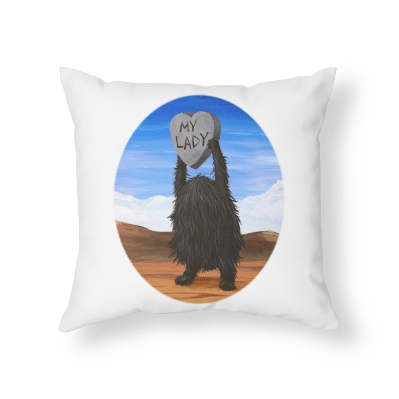 MY LADY Home Throw Pillow by Jim Tozzi