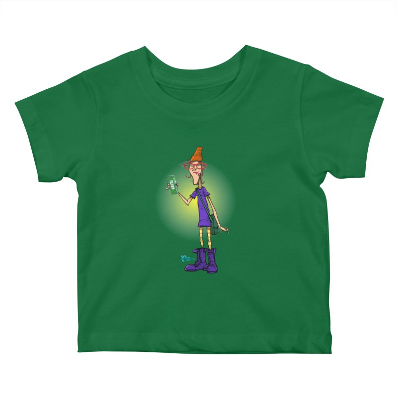 Non Conformist #8 Non Conformist Checking Out Her Smoothie Ingredients Kids Baby T-Shirt by JoeCorrao4EA's Artist Shop